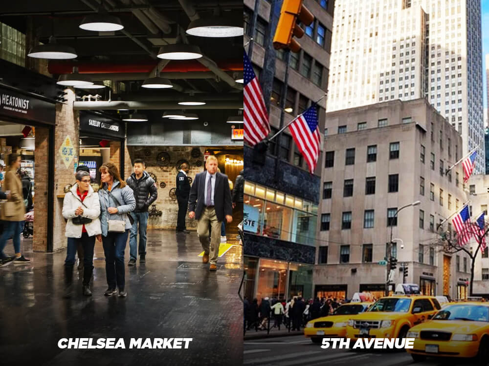 . Visit Chelsea Market instead of 5th Avenue