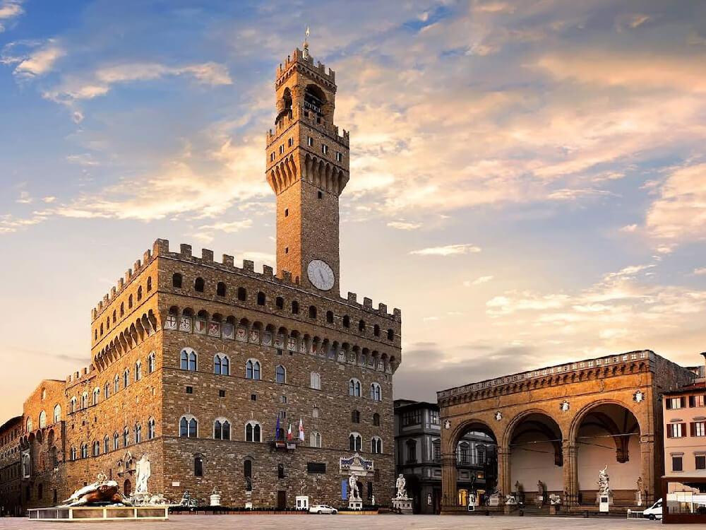 Marvel at the Palazzo Vecchio at the Piazza Della Signoria