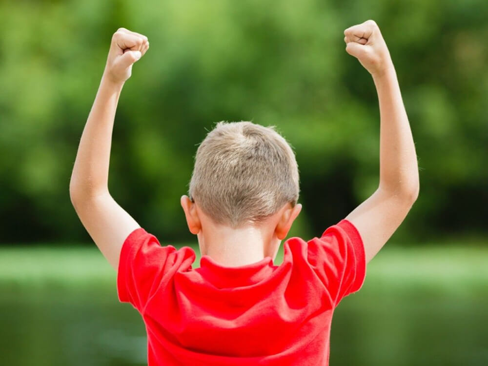 Image (Happy child traveling in an aero plane) Image (Confident / accomplished Child)