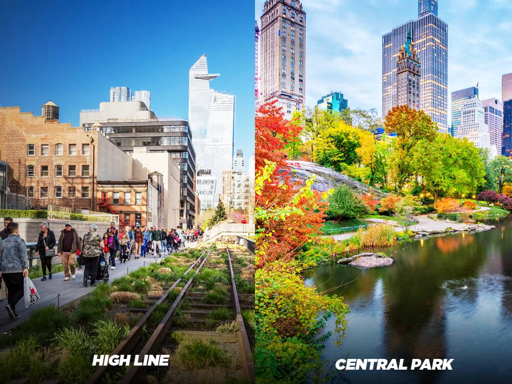 Spend time at High Line instead of Central Park