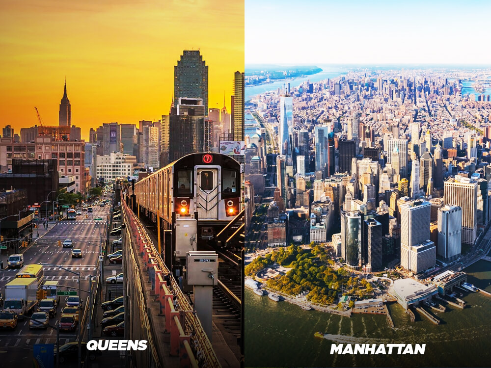 Choose to explore Queens over Manhattan