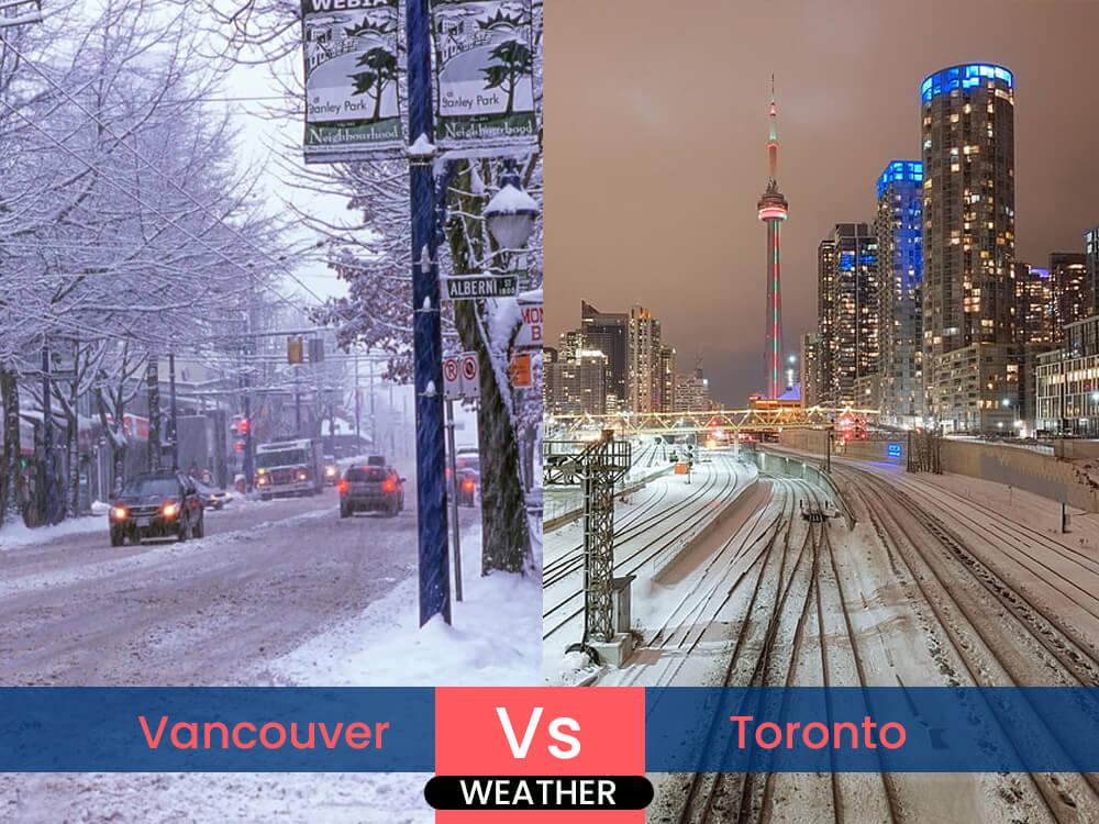 4. Vancouver vs. Toronto: Weather