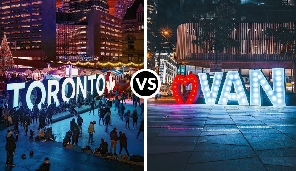 Vancouver vs. Toronto For Your Working Holiday in Canada