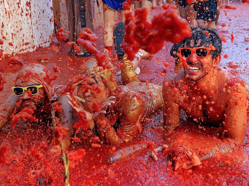 spain La Tomatina