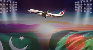 A Special Biman Boeing 737 Aircraft Transports The Bangladesh Cricket Team To Lahore