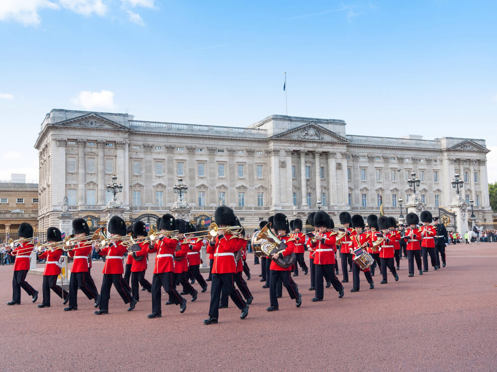 The Famous Buckingham Palace and the Changing of the Guard