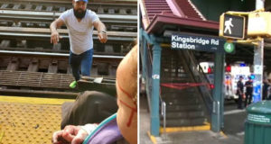 Man Jumps On Railroad To Save Daughter: Watch Full Video In Article