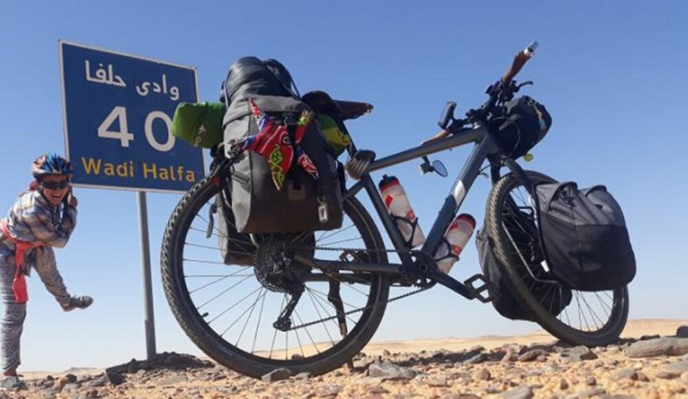 Tunisian Becomes The First Woman to Reach Mecca on a Bicycle