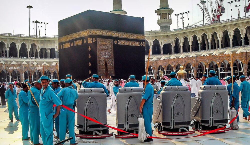 A cleaner in Makkah is actually a millionaire.