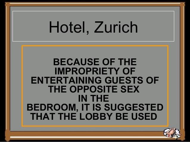 Hotel, Zurich