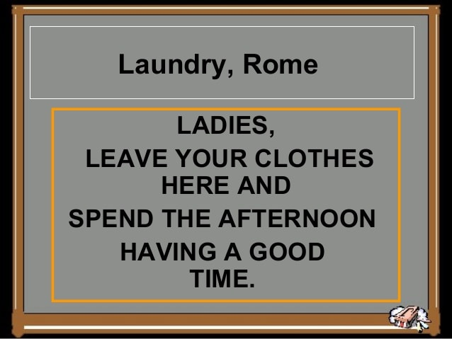 laundry, Rome