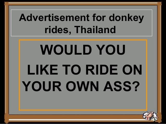 Thailand broken english