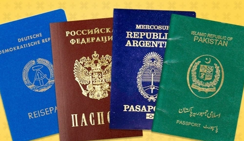 Passport colors yugo.pk