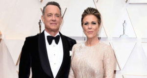 Actor Tom Hanks and his wife from coronavirus