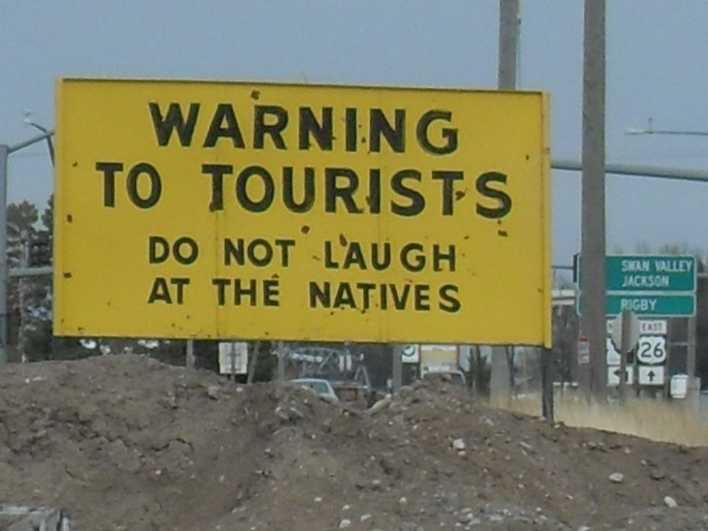 Warning to tourists do not laugh at the natives-min