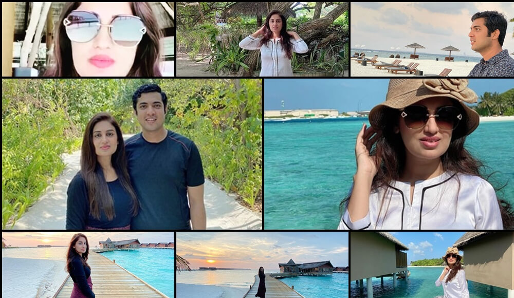 Iqrar Ul Hassan And her wife spending time in maldives
